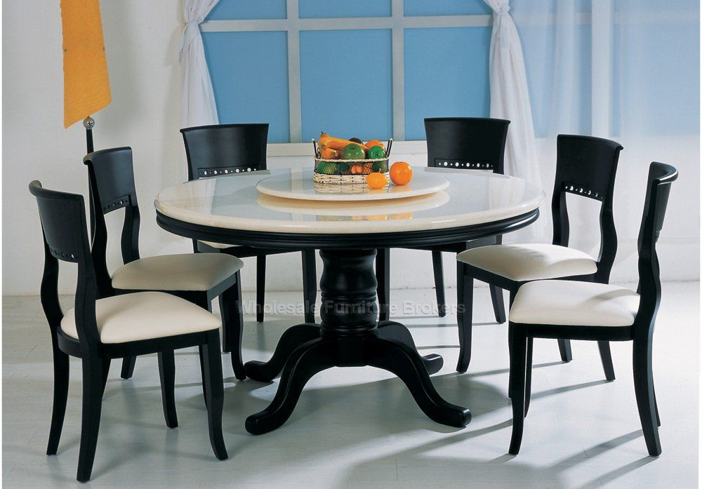 Round Dining Table For 6 Wild Country, Round Kitchen Table Set With 6 Chairs