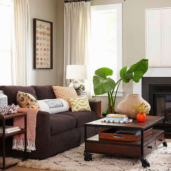 Decorating With Brown Couches Wild, Dark Brown Sofa Living Room Ideas