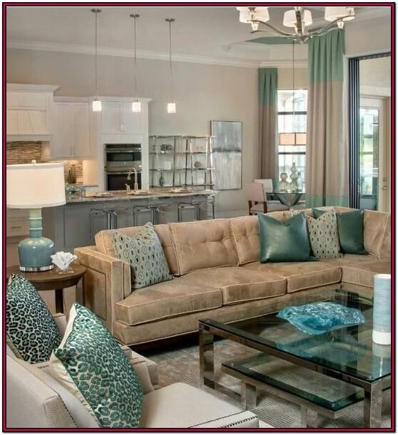 Teal And Brown Living Room Wild, Brown And Turquoise Living Room Decorating Ideas