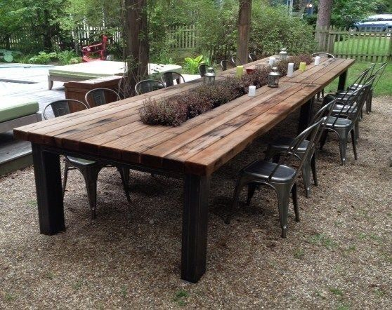 Outdoor Table Wild Country Fine Arts, Wooden Outdoor Tables