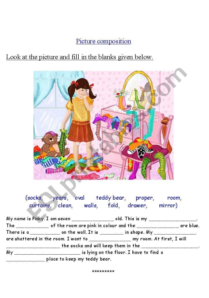 This is a worksheet on picture composition. Hope this is ...